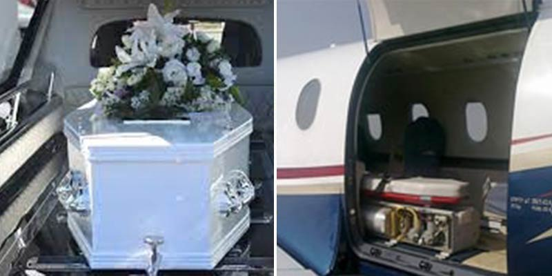 dead body transport by air